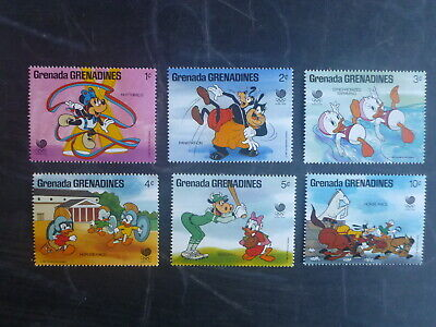 Grenadines 1988 Seoul Olympics Disney Characters Set 6 Mint Stamps Mnh