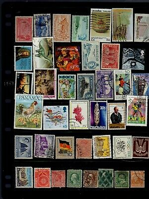 41 all different world stamps