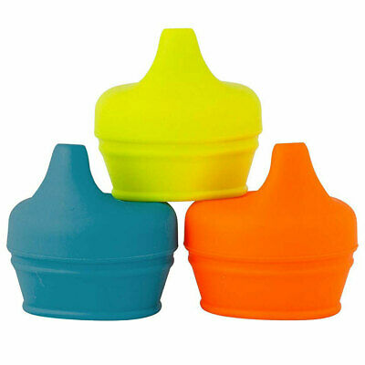 3pc Boon Snug Spout Boy/9m+ Baby Infant Cup Universal Drink Cover/Lid BL/OR/YL