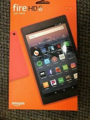 """Amazon Fire HD 8 (7th Generation) B01J94TG3E 8"""" Tablet 16GB WiFi - Punch Red"""