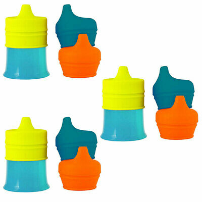 3PK Boon Snug Spout Boys/Baby 9m+ Drink Infant Container Silicone Lids w Cup BL