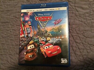Cars 2 (3D Blu-ray / Blu-Ray / DVD, 2011, 5-Disc Set, ) Disney Pixar W/Slipcover