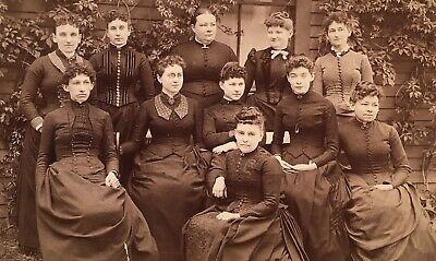 1880's Young Ladies Wives Group 11 CABINET CARD PHOTO Medfield Massachusetts