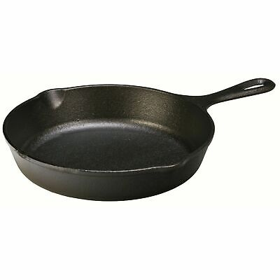 Lodge Pre-Seasoned Cast Iron Skillet Fry Pan 9-Inch Frying Cookware Kitchen Camp