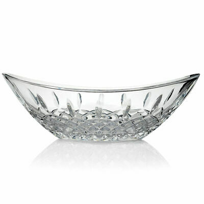 "Marquis by Waterford Gathering 13.25"" Cross & Wedge Cut Crystalline Bowl"
