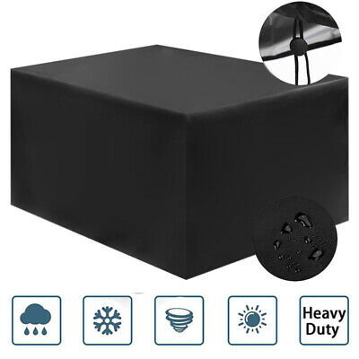 4 Seater Waterproof Garden Patio Table Furniture Cover Ratten Cube Square Black