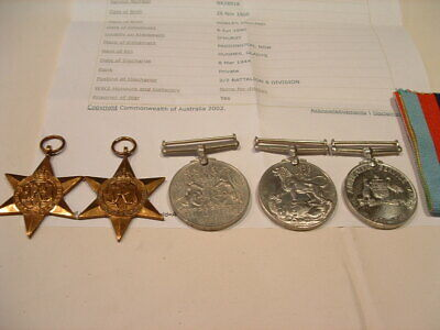 Ww11 Australian Medal Group Name To  Hughes Stanley Nx28918