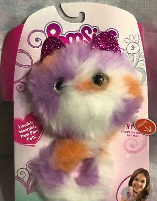 New Pomsies Kali Interactive Wearable Pom-pom Pets Multi With Sounds Toys & Hobbies Electronic & Interactive