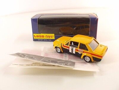 Luso Toys ref.17-6-80 • Fiat 131 Abarth • with decals / avec decalcomanie • 1/43