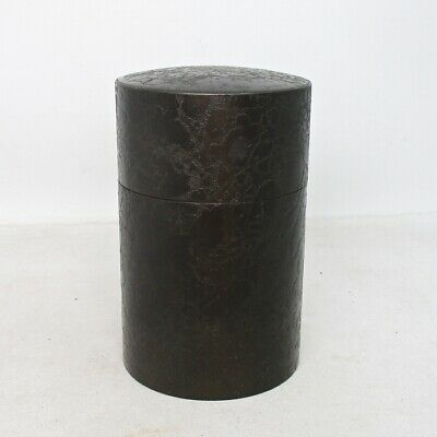 E461: Japanese tea container of copper ware for SENCHA with good pattern