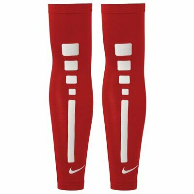 f507adde36490 NIKE PRO ELITE Arm Shooting Sleeves Dri-Fit S/M Red/White Basketball (Pair)