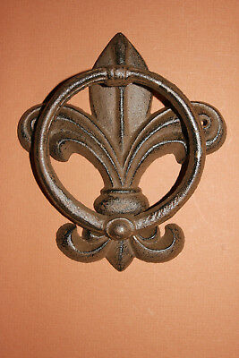 (1) French Victorian Door Knocker Solid Cast Iron  F-14