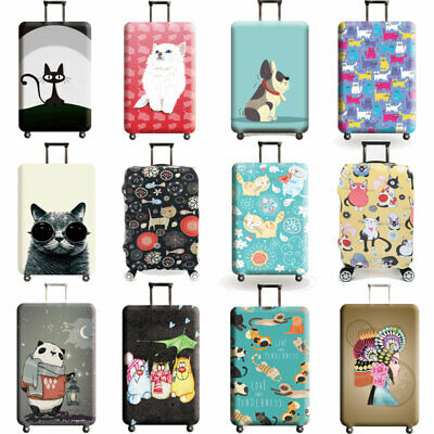 """Printed Trolley Case Luggage Protective Cover Elastic Suitcase Protector 18 -32"""""""