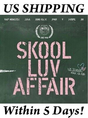 US SHIPPING BTS-[SKOOL LUV AFFAIR] 2nd Mini Album CD+PhotoCard+Book+Gift Sealed
