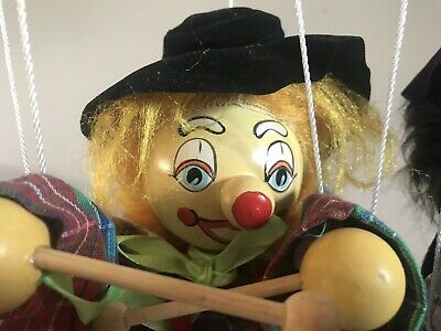 Vintage Marionette Puppet clown 22cm By Discoveries