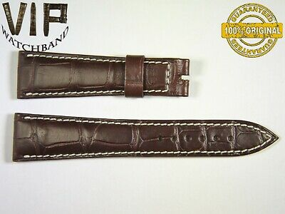 ab6ed2bc6a24 NEW OEM Authentic BREGUET strap genuine alligator 21 mm UVP - 650  dark- brown