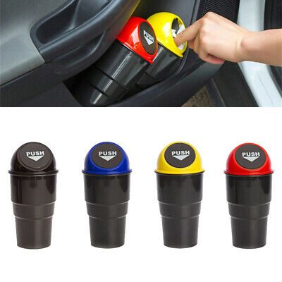 Car Rubbish Bin Drinks Holder Auto Trash Garbage Dust Case Home Office Table