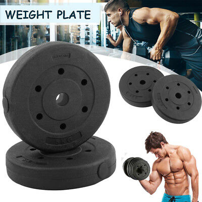 """Weight Plates Set 30Kg Vinyl 1"""" Home Gym Barbell Dumbbell Lifting Training Disc"""