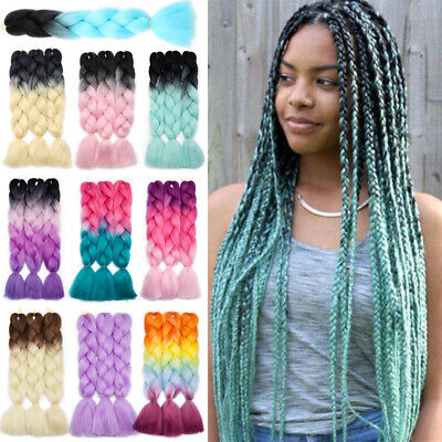 25+Colors Kanekalon Jumbo Braiding Box Braids Hair Extensions Long Straight MS28