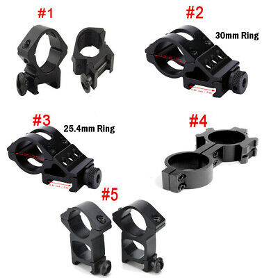 Tactical Scope Ring Torch Mount 20mm Weaver Picatinny Rail For Airsoft Black