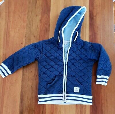 Boys French Soda Blue Quilted Jacket Size 5