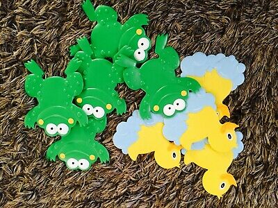 Jelly Bath Anti Slip Frog and Duck Mats Pads x9 Suction Toddler & Baby