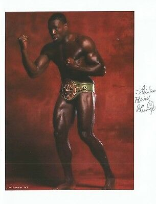 BOXING* FRANK BRUNO MBE SIGNED 8x6 PORTRAIT PHOTO+COA *HEAVYWEIGHT CHAMPION*