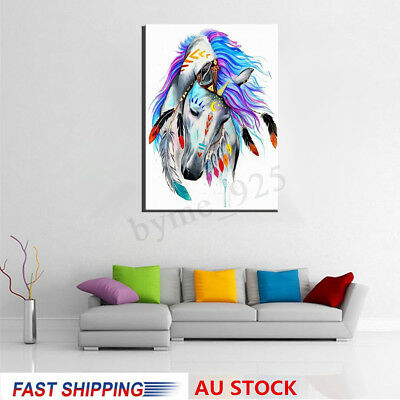 Framed Horse Paint By Number Kits Painting Canvas DIY Craft Home Wall Decor