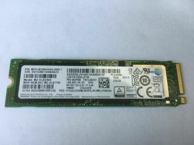Samsung MZ-VLB2560 PCIe 3.0 X4 NVMe M.2 2280 Internal SSD PM981 3D TLC 256GB