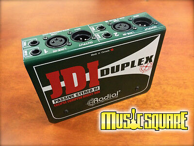 JDI DUPLEX Radial 2 Channel STEREO DIRECT BOX: FREE FAST SAME DAY SHIP!
