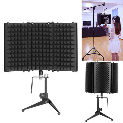 Studio Microphone Mic Diffuser Isolation Sound Absorber Foam Panel Shield Stand