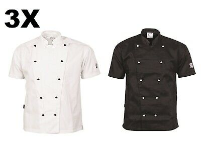 3 X Traditional Chef Jacket Short Sleeve DNC Work Wear 1101- FREE POST