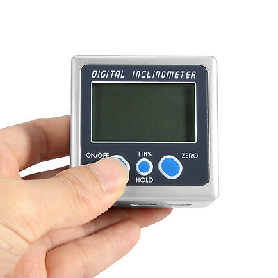 Digital Angle Cube Finder Magnetic Inclinometer Gauge Protractor Level Saw GHS