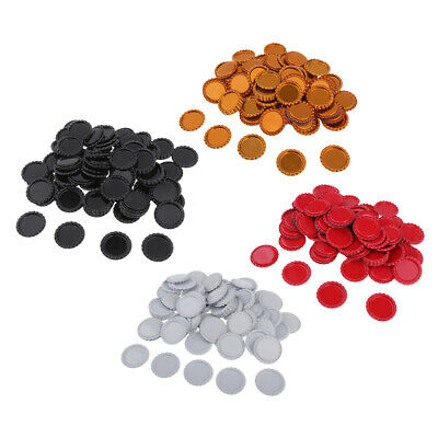 400Set Decorative Craft Flattened Bottle Caps for DIY Hair Bows Pendant 25mm