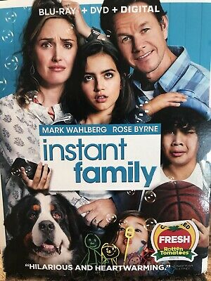 Instant Family Mark Wahlburg 2018 Movie Blu Ray And Digital Only. No DVD