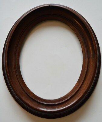 American Antique Black Walnut Oval Painting Picture Frame  Recessed Victorian