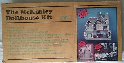 Vintage Greenleaf The McKINLEY Wooden Victorian Doll House Kit #8009 New in Box