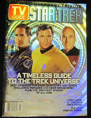 TV Guide July 2002 Star Trek 35th Anniversary Tribute  with Centerfold Poster