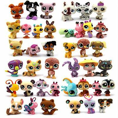 Random Pick Different Lot 5 Pcs Littlest pet shop LPS figure xmas gifts  TTUS