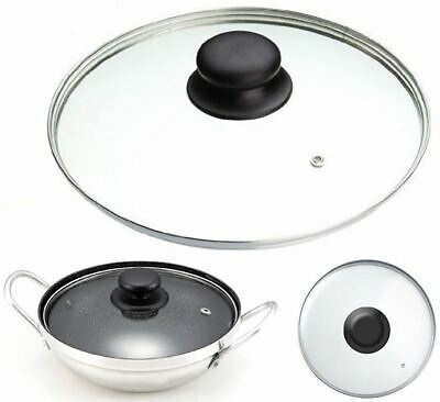Tempered Replacement Vented Frying Fry Pan Saucepan Casserole Glass Lid Cover