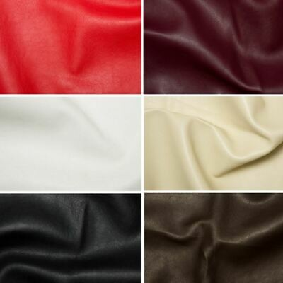 Faux Leather Vinyl Upholstery Leatherette Fabric Material 1 Metre To 50 Metre