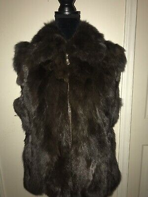 b6142a2bcfa SAKS FIFTH AVENUE Knitted Rabbit Fur Vest Gray   White -  42.88 ...