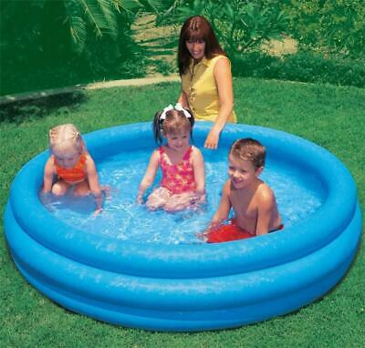 Intex Inflatable 3 Ring Swimming Paddling Play Pool Baby Kids Family Pool Blue