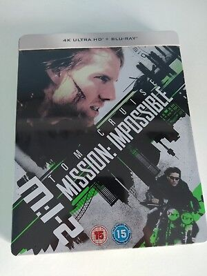 Mission Impossible 2 Limited Edition Steelbook 4K UHD Blu-ray + BD