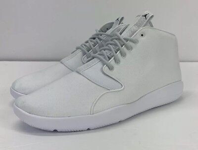 d1dfa7152ba811 NEW! Nike Air Jordan Eclipse Chukka White Pure Platinum 881453-100 MENS  Size 9