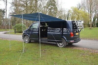 Sun canopy awning for VW Camper Van motorhome 300cm x 240cm Dark Grey WILD EARTH