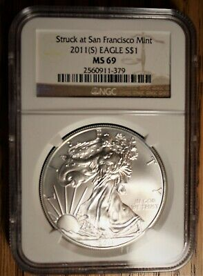 2011 (S) American Silver Eagle NGC MS 69