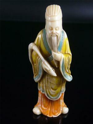 Fine Old Chinese Shou Shan Soapstone Statue ONE OF THE EIGHT IMMORTALS IN LEGEND