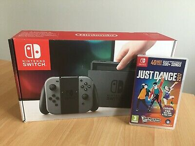 "Nintendo Switch ""Grey"" 32GB inkl. Spiel Just Dance 2017 praktisch NEU"