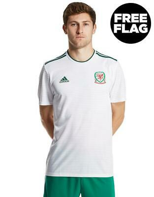 New adidas Men's Wales 2018/19 Away Shirt White